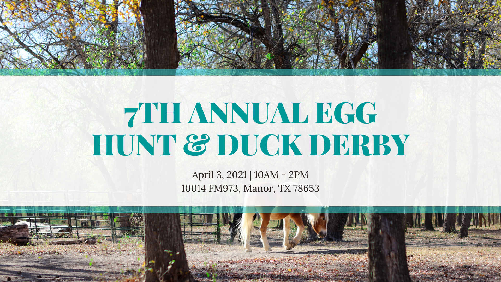 7th Annual Egg Hunt and Duck Derby benefiting Healing with Horses Ranch